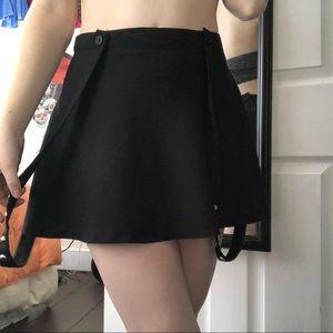 Mini Studded Suspender Skirt